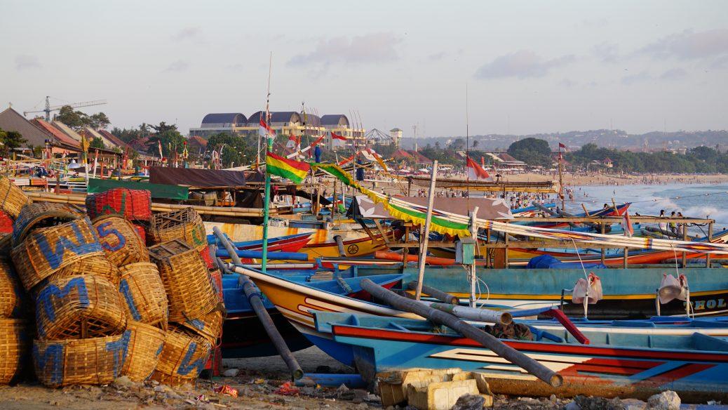 Jimbaran Beach - Fischerboote