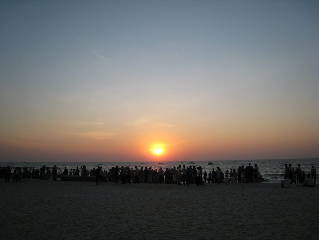 Sonnenuntergang Colva Beach