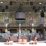 Gesperrte Bar vor dem Beginn des Sziget Festivals