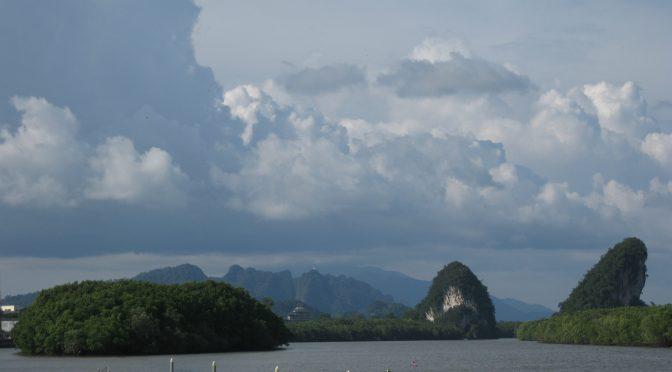 Fluss Panorama Krabi Wolken Anleger