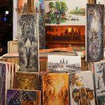 Einheimische Bildkunst auf dem Markt in Siem Reap
