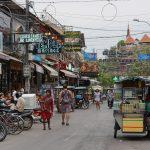 Pub Street in Siem Reap bei Tageslicht
