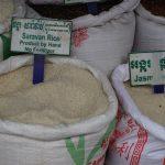 Reis auf dem Markt in Siem Reap